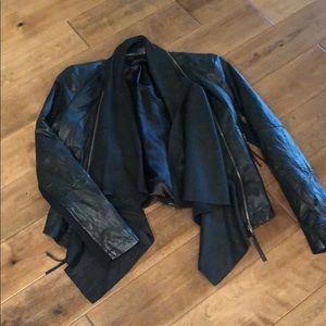 Zara authentic black leather jacket